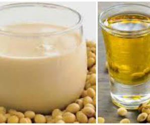 Crecimiento del cabello con leche de soja