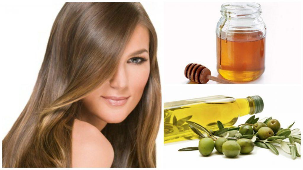 Aceite de oliva y miel para el cabello