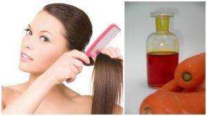 Aceite de zanahoria casero para el cabello