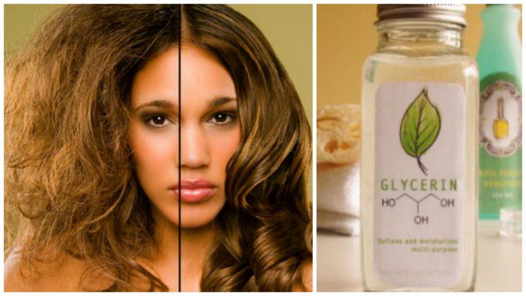 Glicerina para el cabello seco