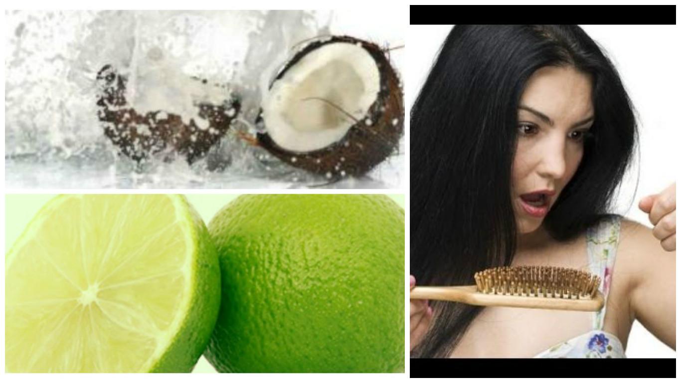 Tratamiento de agua de coco y limón para el cabello