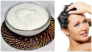 Tratamiento de yogurt para el cabello seco