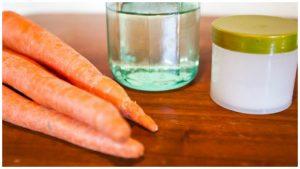 Zanahoria, aceite, miel