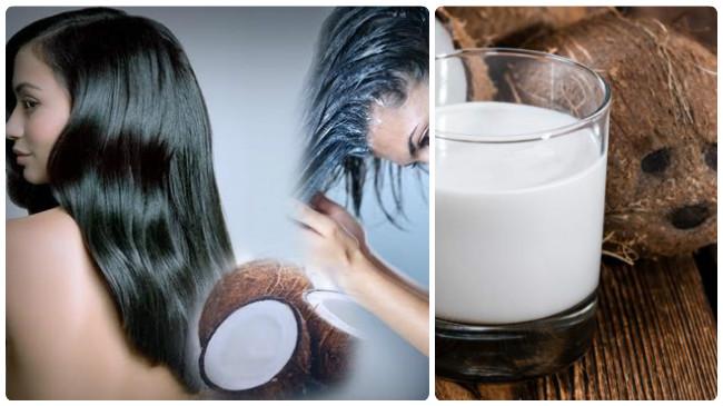 como aplicar leche de coco en el cabello