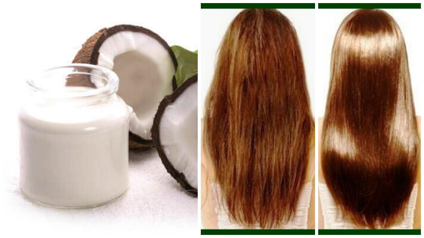Tratamiento de leche de coco para el cabello