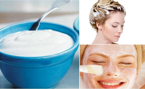 mascarilla de yogurt para la cara