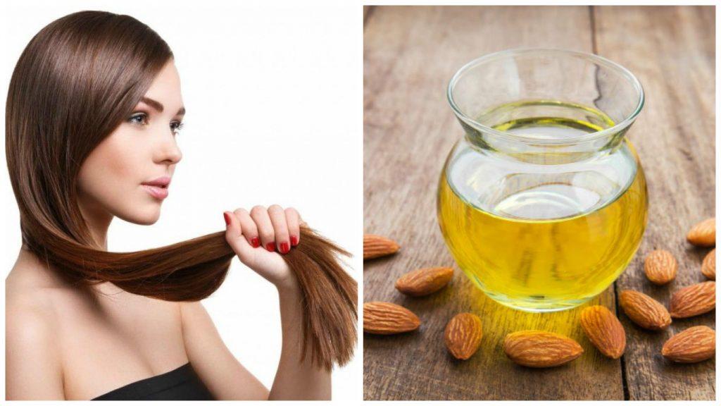 Tratamiento de aceite de almendras para el cabello