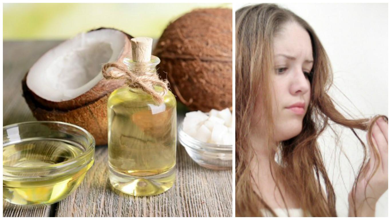 Tratamiento de aceite de coco para el cabello