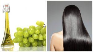 Aceite de semillas de uva para el cabello