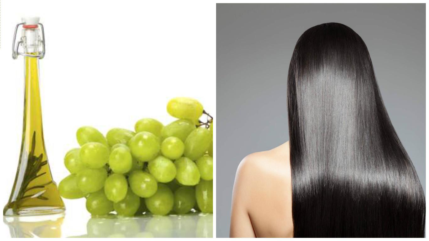 Tratamiento de aceite de semillas de uva para el cabello