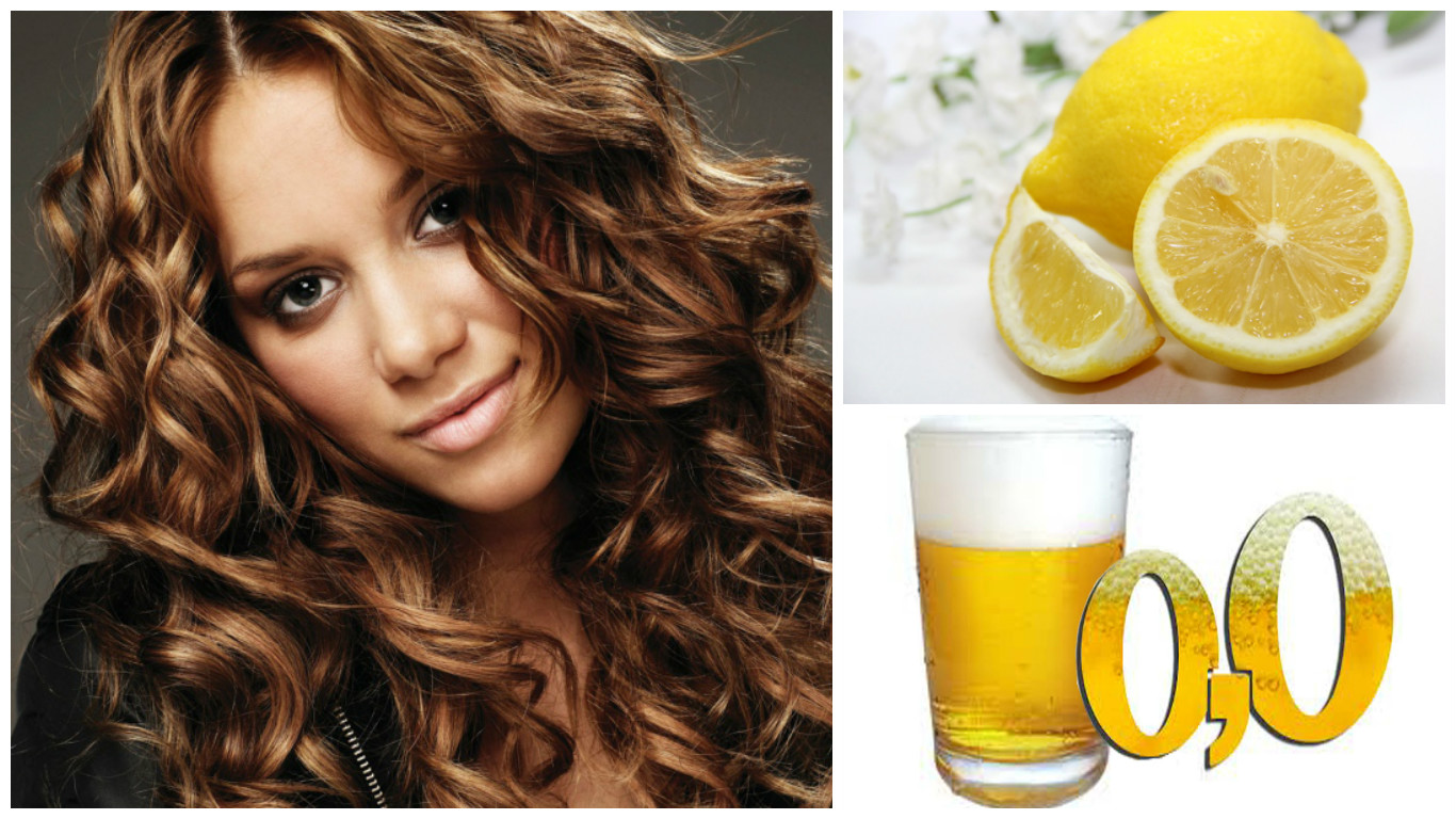 Tratamiento de cerveza y limón para el cabello