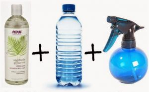 Glicerina, Agua, Rociador