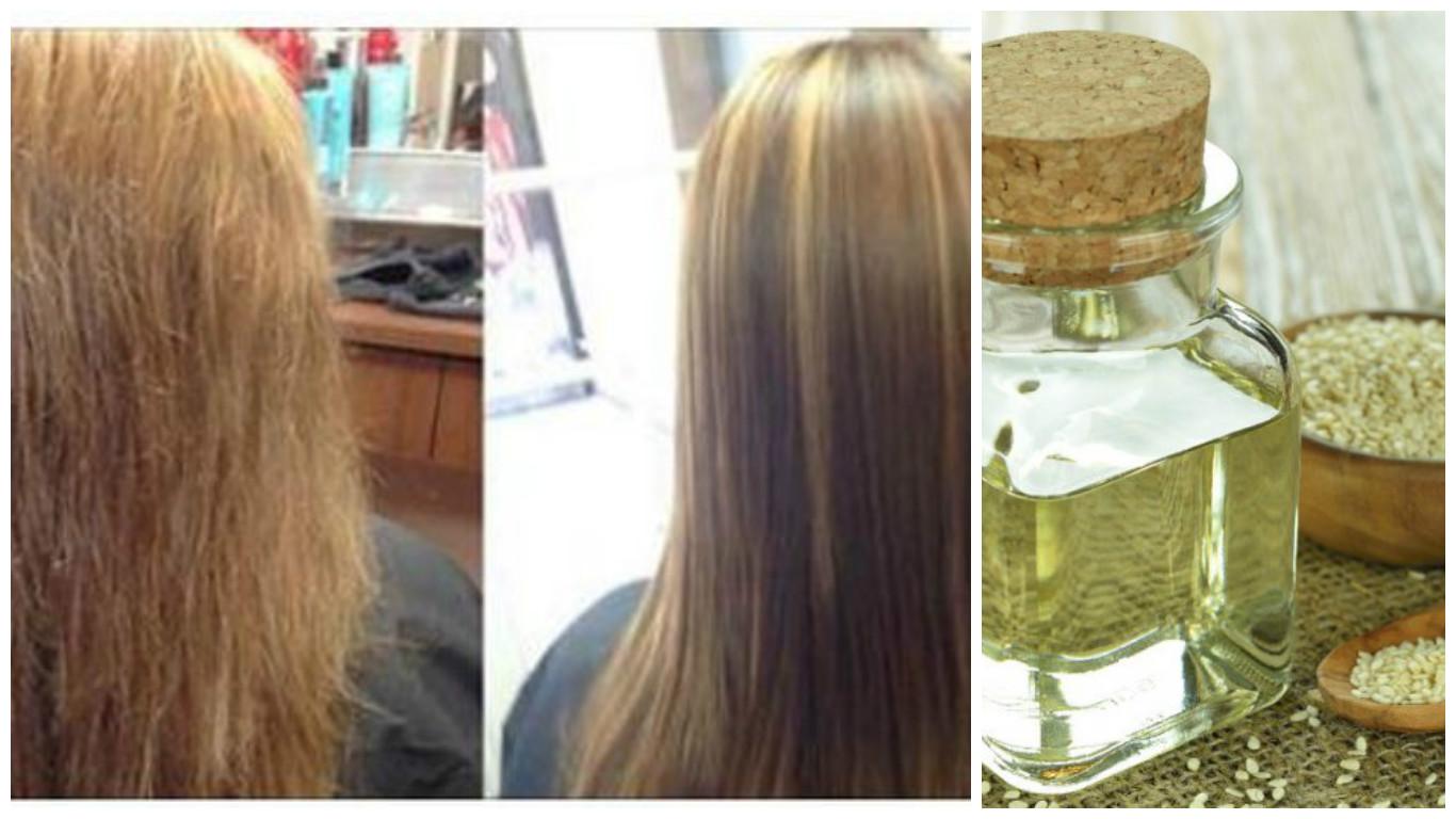 Aceite de sésamo para el cabello seco