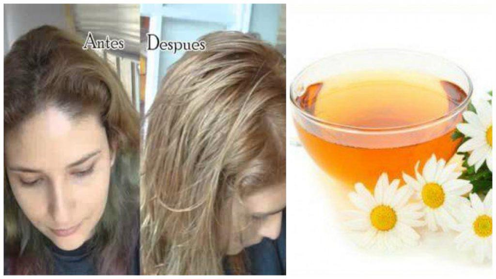 manzanilla con miel para el cabello