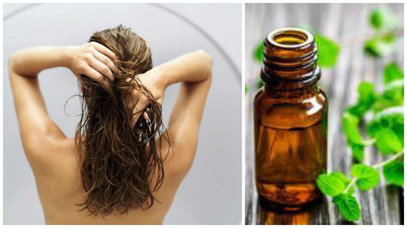 Como aplicar aceite de menta en el cabello