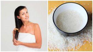 Evitar la caida del cabello con agua de arroz
