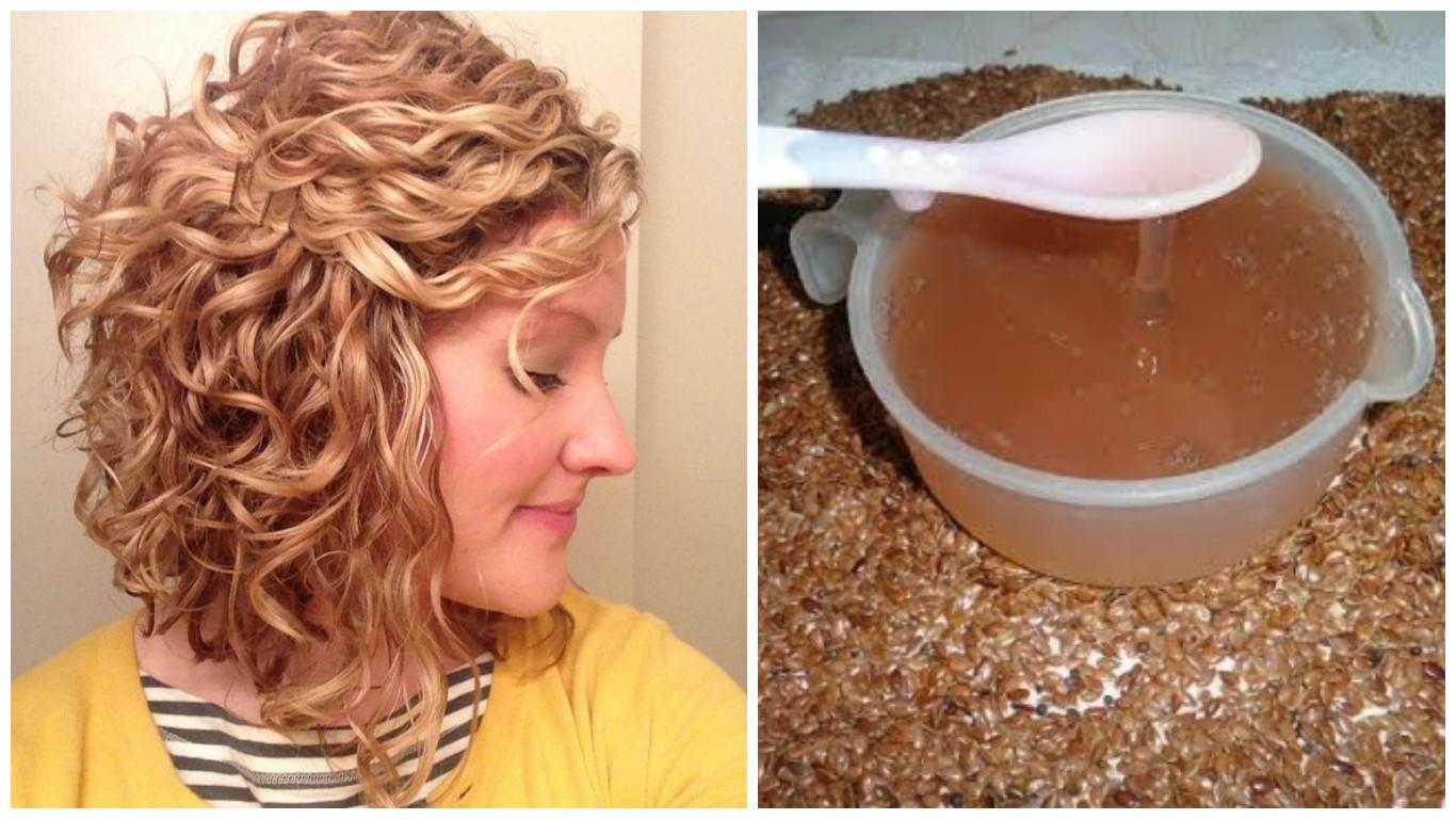 Fortalecer el cabello rizado con linaza