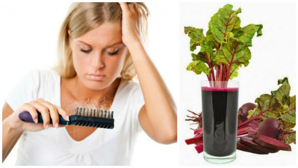Hojas de remolacha para la caída del cabello