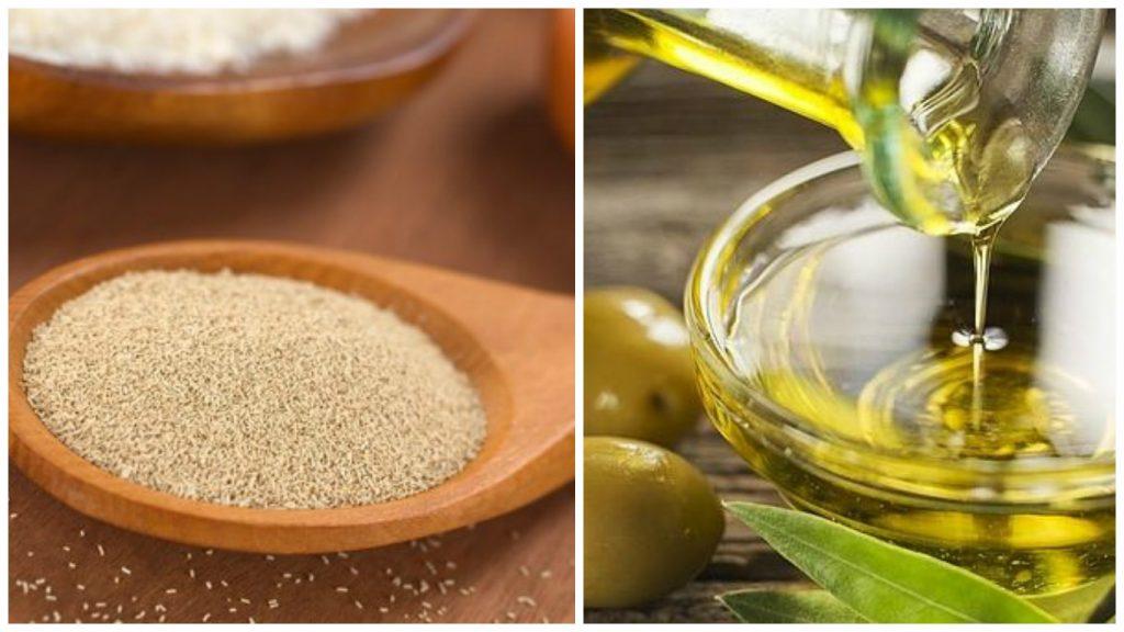 Levadura de cerveza y Aceite de oliva