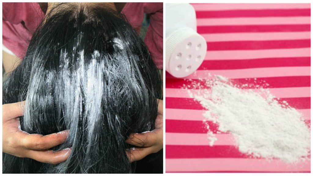 Limpiar el cabello con talco