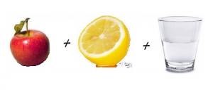 Manzana, Limón y Agua