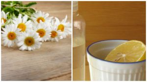 Manzanilla y limón