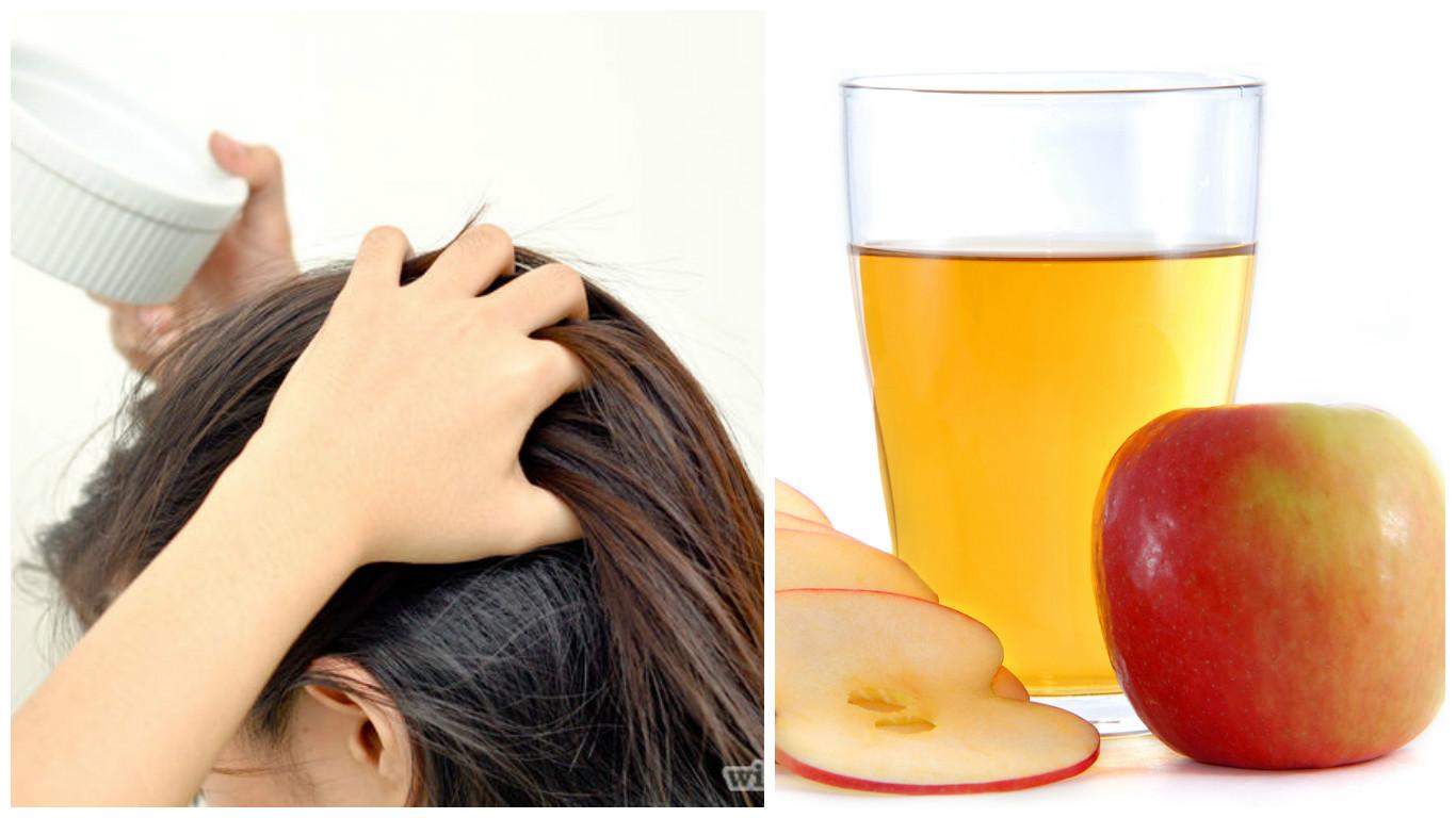 Mascarilla para cabello graso con manzana