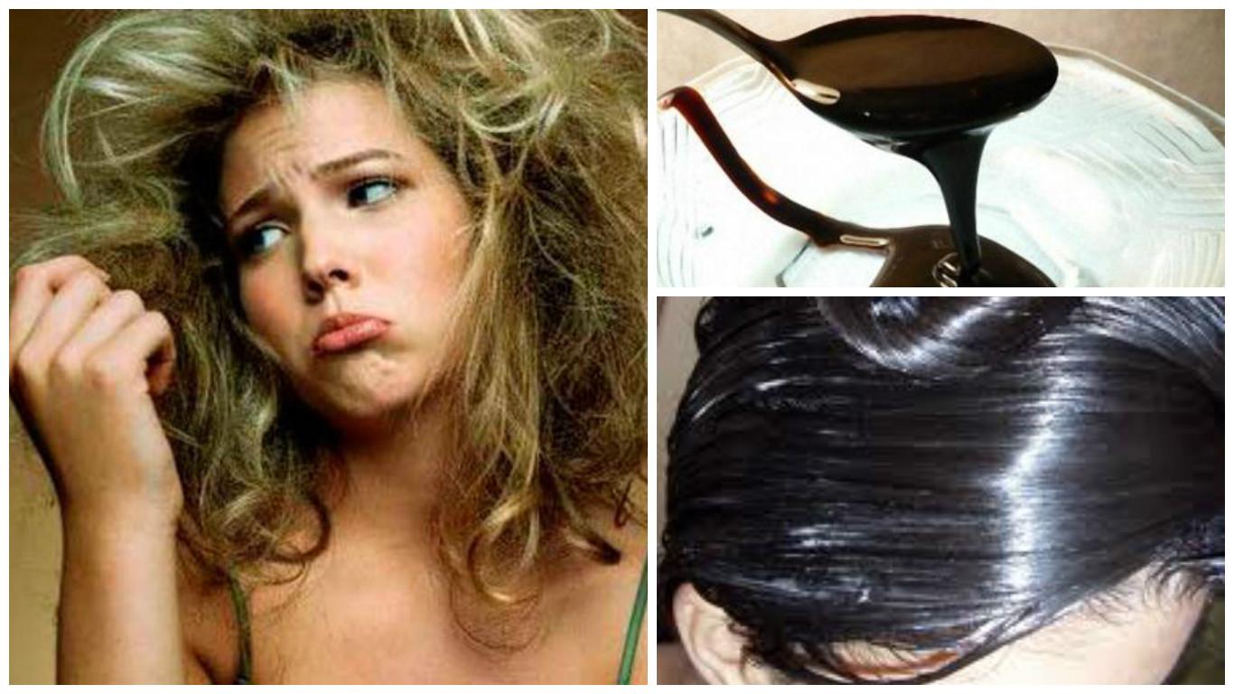 Melaza para el cabello seco