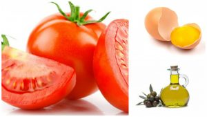 Tomate, huevo, aceite de oliva