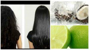 Alisar el cabello con leche de coco y limon