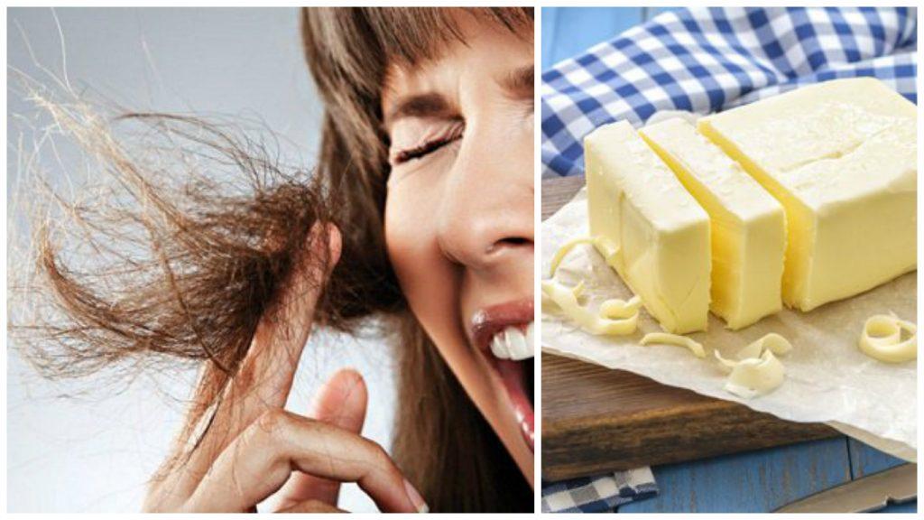 Mantequilla para el cabello seco