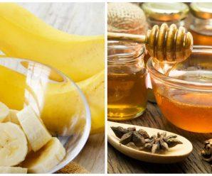 Miel y Plátano para el cabello maltratado