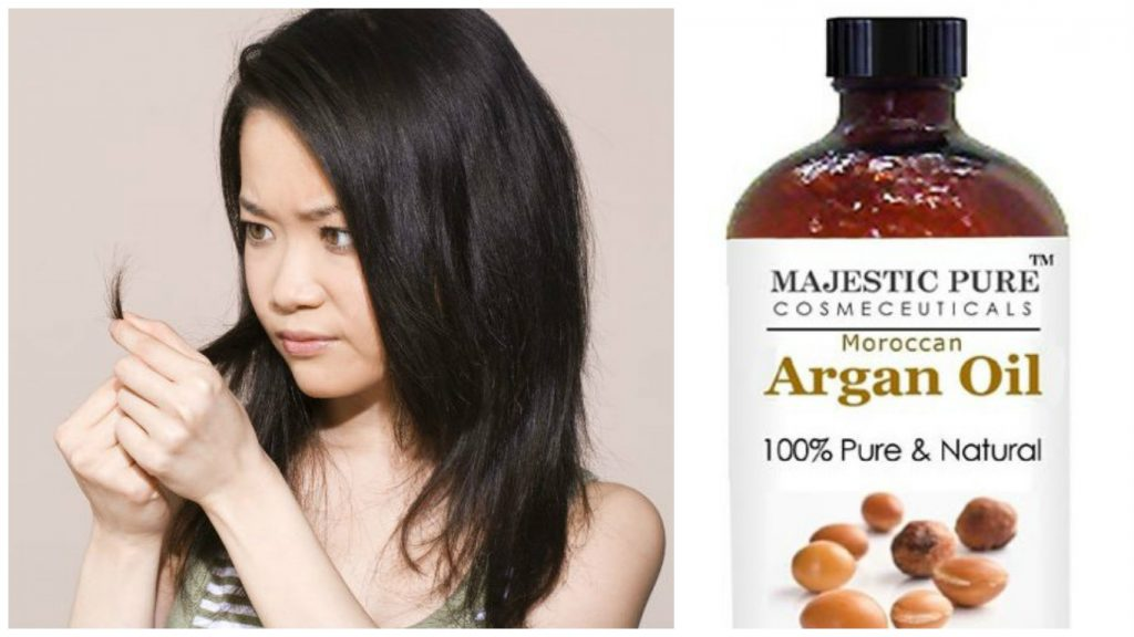 Aceite de argan para pelo dañado