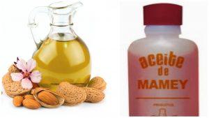 Aceite de mamey y de almendras
