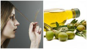 Aceite de oliva para el pelo débil