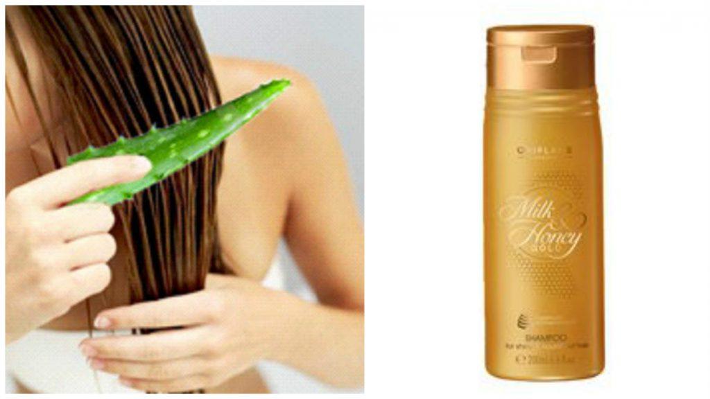 Champú de miel y áloe para pelo brillante