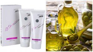 Crema para alisar y Aceite de oliva
