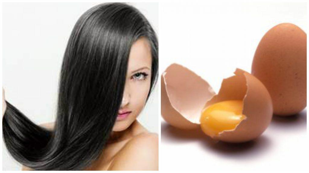 Huevos para pelo brillante