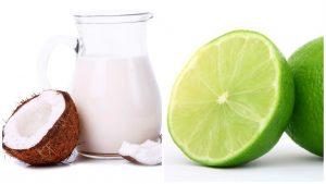 Leche de coco y Limón