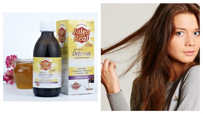 la jalea real aclara el cabello