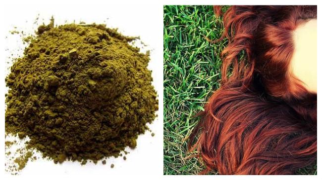 tinte natural para el cabello henna