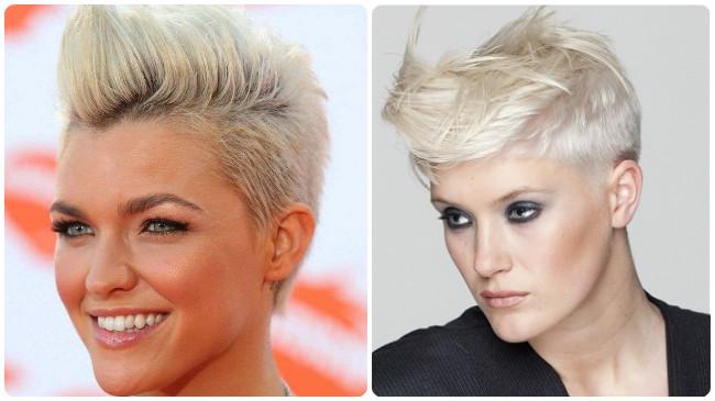 corte pelo corto rapado en los lados ¡un estilo muy decidido!