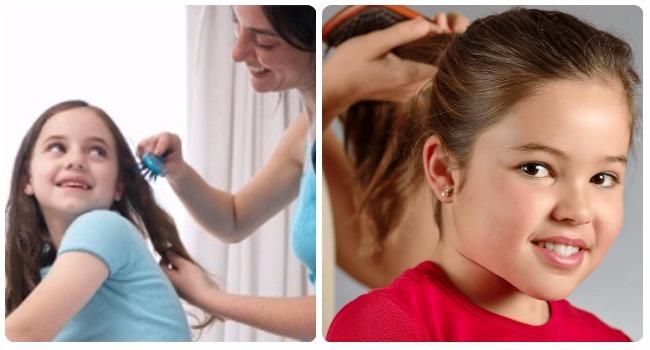 como hidratar el cabello rizado de una niña