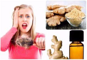 Tratamiento para cabello de jengibre